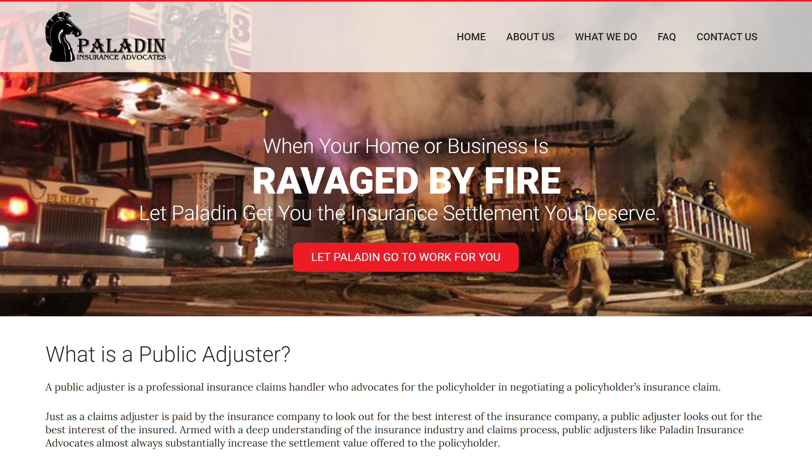 Insurance Adjuster Website Design