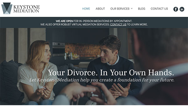 mediator website design